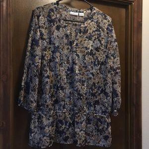 Liz Claiborne blouse & camisole L